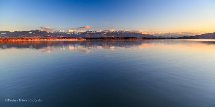 Fussacher Bucht, Blick vom Schutzdamm in südliche Richtung | 17.02.2014 | Foto Stephan Trösch