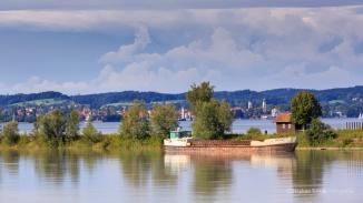 Rheinkanal bei Km 91.5. Im Hintergrund D-Lindau | 02.08.2014 | Foto Stephan Trösch