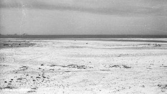 Sanddelta | Im Hintergrund der Rohrspitz, dazwischen die Fussacher Bucht | 20.04.1968 | Foto bereitgestellt von Lotti und Bruno Keist